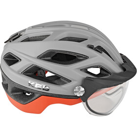 KED Covis Photocromatic Helm, grey/red matte